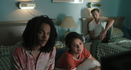 "Zack (Luka Sabbat, left), Zoe (Selena Gomez) and Jack (Austin Butler) stumble into a zombie apocalypse in Jim Jarmusch's ""The Dead Don't Die."""
