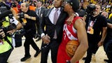 Raptors president, Masai Ujiri, got into an altercation with an officer after the team won an NBA championship.