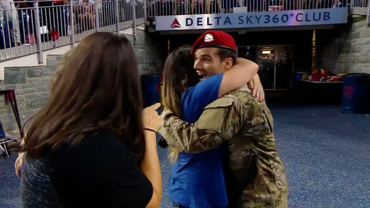 Watch the cutest reactions to military dads coming home