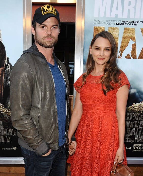 """Daniel Gillies and actress Rachael Leigh Cook, here at the 2015 premiere of """"Max,"""" were married in 2004."""