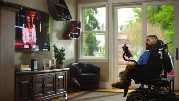 Comcast remote lets people with physical disabilities control the TV with their eyes