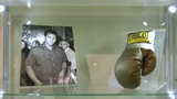 An boxing glove that was autographed by Muhammed Ali to promote the 'fight of the century' with Joe Frazier in 1971 will go under the hammer in Italy