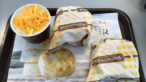 At Biscuitville, biscuits are king, and the brand's signature is that a new batch is cooked every 15 minutes.