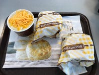Biscuits are cooked every 15 minutes at regional fast-food chain Biscuitville