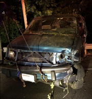 A Kitsap County Sheriff's Office photo shows the van following the fatal wreck Wednesday.