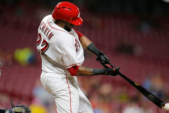 Cincinnati Reds outfielder Phillip Ervin hit seven home runs in 218 at-bats last season.