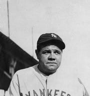 Babe Ruth is seen in an undated photo.