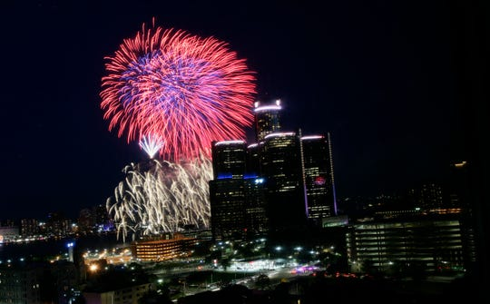 Monday's  Ford Fireworks are scheduled to start just before 10 p.m.