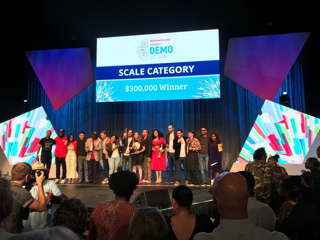 """Ellis islamd Tea won first place in the Quicken Loans Detroit Demo Day """"Scale"""" category."""