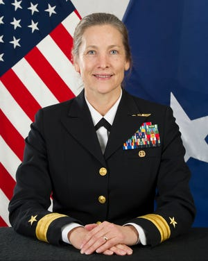 This image released by the U.S. Navy shows Rear Adm. Shoshana Chatfield.
