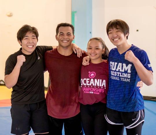 From left, Mia-Lahnee Aquino, Jun Asebias, Paulina Duenas and  Rckaela Aquino at Fudoshin Fitness on June 14.