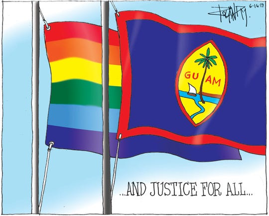 Sunday cartoon on LGBTQ equality.