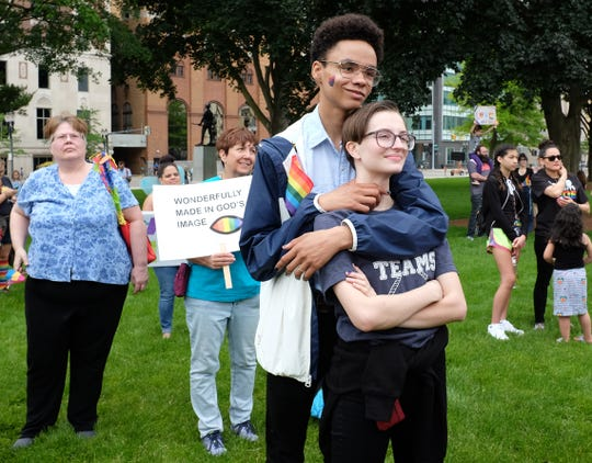 An estimated 6,000 people attended Saturday's Michigan Pride Parade in downtown Lansing and its related events. Michigan's first major gay rights rally and pride march started in Detroit in 1986.