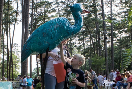 The Herons on the Bayou were unveiled in Kiroli Park in West Monroe, La. on June 14. The Herons will be scattered throughout the Twin Cities.