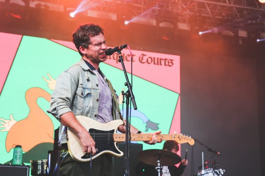Andrew Savage of Parquet Courts performs at Bonnaroo's This Tent July 14, 2019 in Manchester, Tenn.