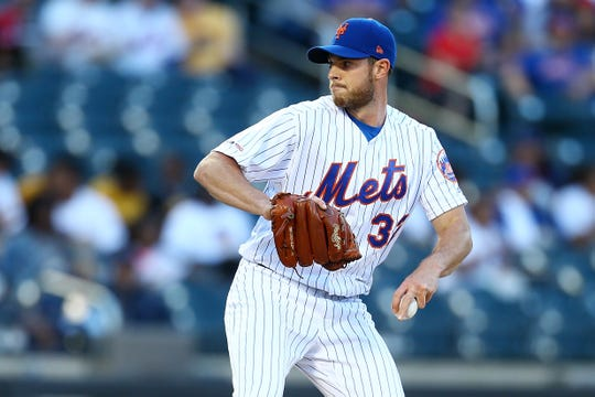 Steven Matz of the New York Mets pitches in the first inning against the St. Louis Cardinals at Citi Field on June 14, 2019 in New York City.