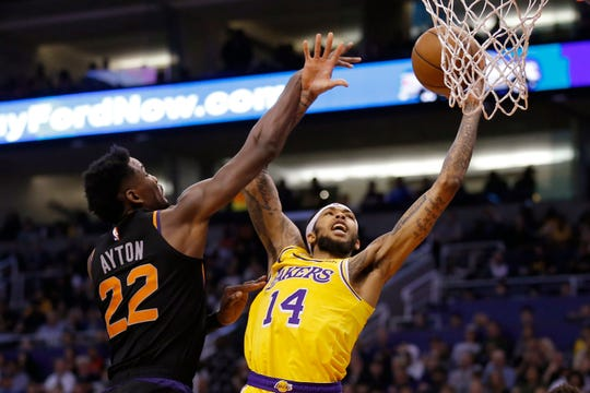 The New Orleans Pelicans have agreed to trade six-time All-Star Anthony Davis to the Lakers for point guard Lonzo Ball, forward Brandon Ingram, (14) above, shooting guard Josh Hart and three first-round draft choices.