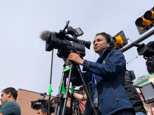"""Marlenn Barraza, who began her broadcasting career at """"News22,"""" now works for El Paso's KTSM as a photojournalist"""