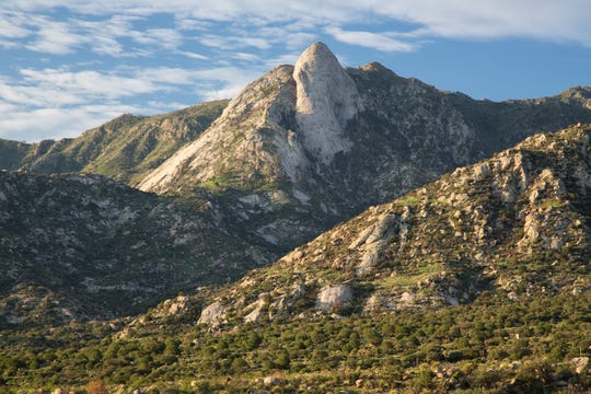 The Organ Mountains Wilderness includes a steep, angular mountain range with rocky spires that jut majestically above the Chihuahuan Desert floor to an elevation of 9,000 feet.