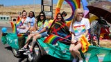 The LGBTQ community and its supporters march along Main Street for the fourth annual event Saturday in Farmington.