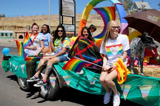 Farmington's LGBTQ community and its supporters celebrate Pride Month during Saturday's fourth annual parade along Main Street in downtown Farmington.