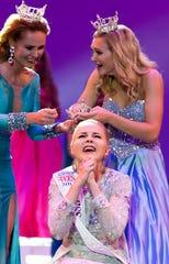 Miss Onalaska's Outstanding Teen Savannah Horstman is crowned winner of the 2019 Miss Wisconsin's Outstanding Teen competition at Alberta Kimball Auditorium at Oshkosh West High School on June 14, 2019 in Oshkosh, Wis.