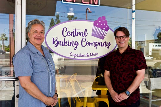 Drew Gomez (left) and John Pagoto opened Central Baking Company next door to their Dilemma Hair Salon on Central Avenue, just south of Camelback Road, on Valentine's Day.