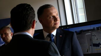 President Duda of Poland visits Reno for the Nevada Global Summit on June 15, 2019.