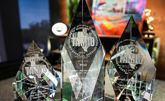 The City of San Angelo's Public Information Department brought home three awards from the most recent Texas Association of Municipal Information Officers' conference.