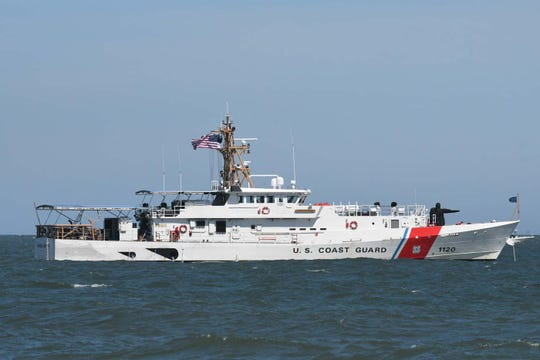 A U.S. Coast Guard boat similar to the one searching the waters about 300 miles east of Cape Canaveral for a missing boater. FILE.