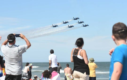 The Blue Angels during the Ocean City Air Show on Saturday, June 15, 2019 in Ocean City, Md.