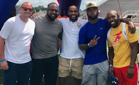 Blake Hines, Troy Lewis, Adrian Perkins, Calvin Abrams and Albert Fullwood showed up in support of the 2019 River Cities Classic.