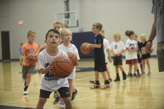 300 plus kids took part in Hy-Vee/Sanford's Legends For Kids basketball clinic on June 15, 2019 at the Sanford Pentagon.