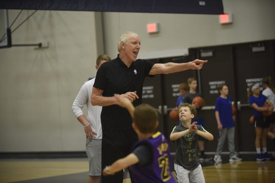NBA Commentator and hall of famer Bill Walton was the featured celebrity of Hy-Vee/Sanford's Legends clinic on June 15, 2019 at the Sanford Pentagon.