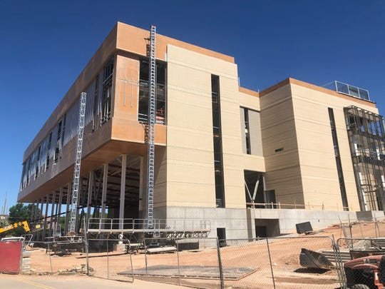 The Dixie State University Human Performance Center under construction on June 15, 2019.