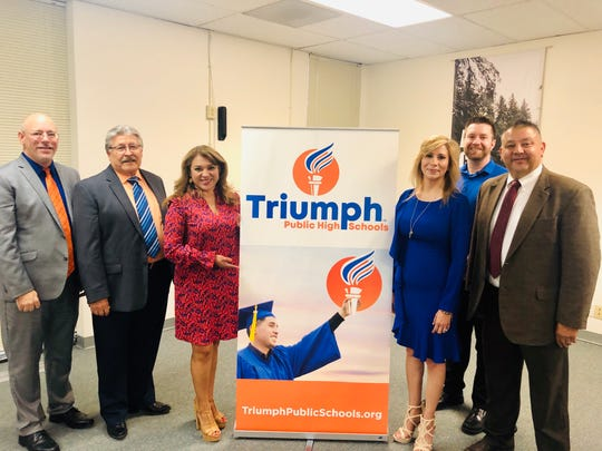 Triumph Public High Schools announced its new name at the El Paso Hispanic Chamber of Commerce last week.