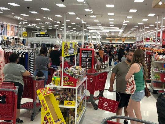 Target registers appear to be down across the globe, including in Visalia.
