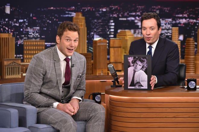"""Chris Pratt Visits """"The Tonight Show Starring Jimmy Fallon"""" at Rockefeller Center on Sept. 25, 2014 in New York City."""