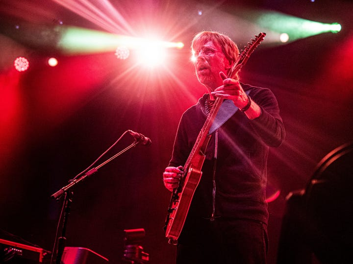 Trey Anastasio of Phish performs at the Bonnaroo Music and Arts Festival on Friday, June 14, 2019, in Manchester, Tenn.