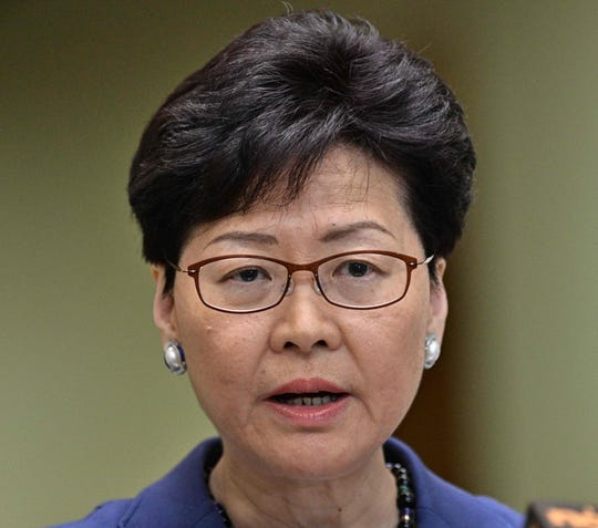 """""""Ipersonally have to shoulder much of the responsibility"""" for turmoil in Hong Kong, Chief Executive Carrie Lam says."""