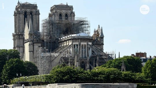 First Notre Dame mass since fire: Worshipers in hard-hats, debris still visible
