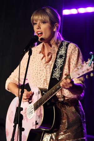 Taylor Swift performs at AEG and Stonewall Inns pride celebration commemorating the 50th anniversary of the Stonewall Uprising on June 14, 2019.