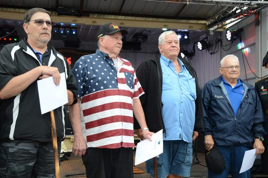 Veterans Gary McMurtrie, from left, Mike Wassenaar, Wilbur Steen and David Burghdoff, were selected for the next Talons Out Honor Flight.