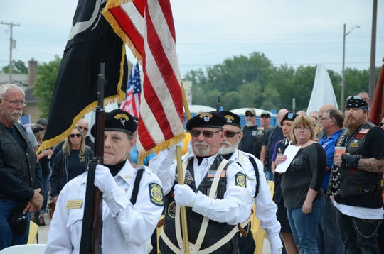 The Honor Guard from American Legion Post 298 presented the colors.