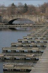 Rows of docks line the Birdland Marina in Des Moines Tuesday, Nov. 14, 2006.