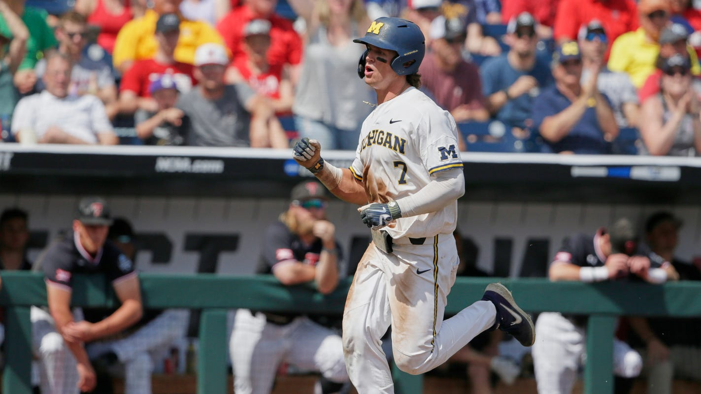 'Loose and free' mentality pays off for Michigan in College World Series