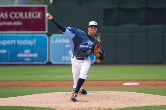 Hugh Smith has struck out 19 batters in 18.2 innings this season with the West Michigan Whitecaps.