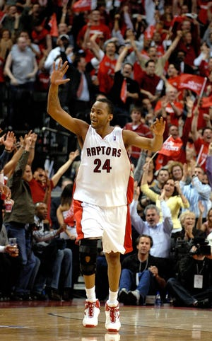 Morris Peterson played seven seasons with the Toronto Raptors, finishing in 2007. Twelve years after Peterson's final playoff series in Toronto, the Raptors are champions and Peterson, still part of that family, is loving it..