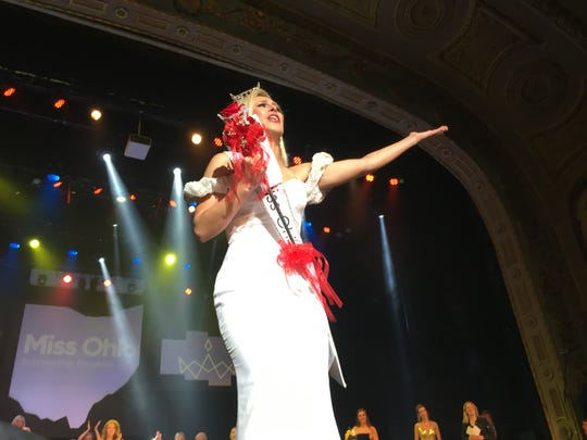 Miss Montgomery County Caroline Grace Williams, 24, of Cincinnati, was named the new Miss Ohio Saturday night at the Renaissance Theatre in Mansfield.