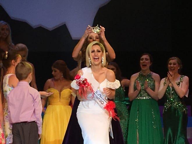 Caroline Grace Williams, 24, of Cincinnati is crowned Miss Ohio.